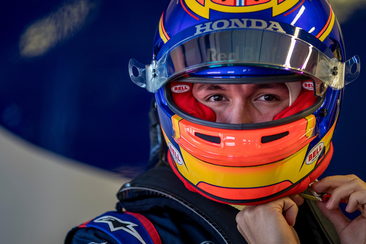 Alexander Albon of Thailand and Scuderia Toro Rosso prepares to drive the (23) Scuderia Toro Rosso STR14 Honda on track during the filming day in Misano Adriatico, Italy on February 13, 2019 // Samo Vidic/Red Bull Content Pool // AP-1YEKPS8B51W11 // Usage for editorial use only // Please go to www.redbullcontentpool.com for further information. //